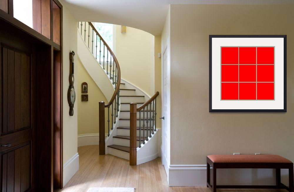 """Red Window 124 Canvas Contemporary Modern""  (2010) by Ricardos"