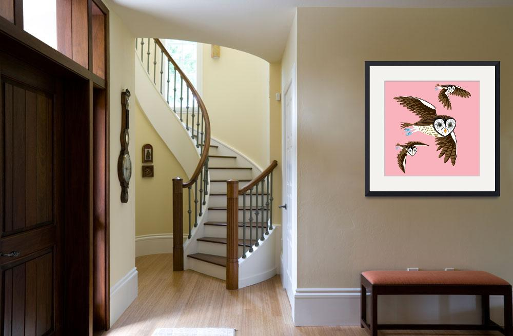 """""""Owls On The Prowl - Limited Edition Print""""  (2010) by iotaillustration"""