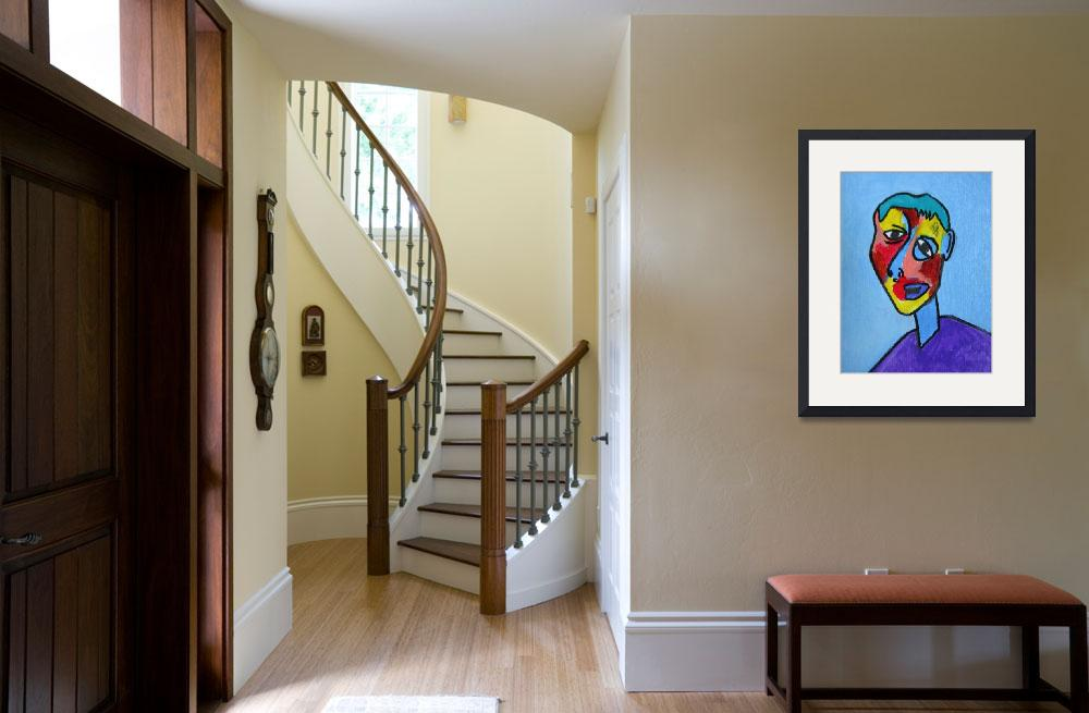 """""""abstract cubism face 2"""" by abstractartstudio"""