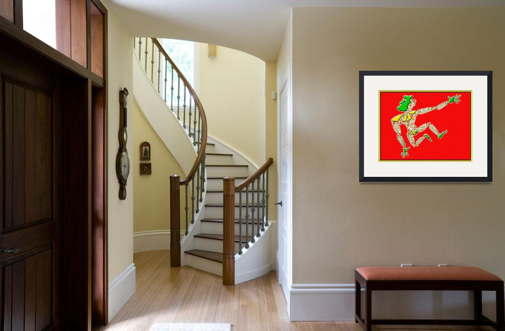 """""""Dance Warrior 13  red and green&quot  (2010) by JimmyGlennGreenway"""