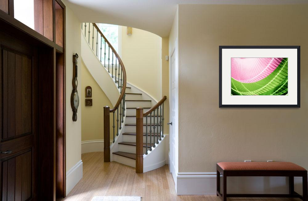 """""""Pink and Green Abstract Wall Art&quot  (2010) by NatalieKinnear"""