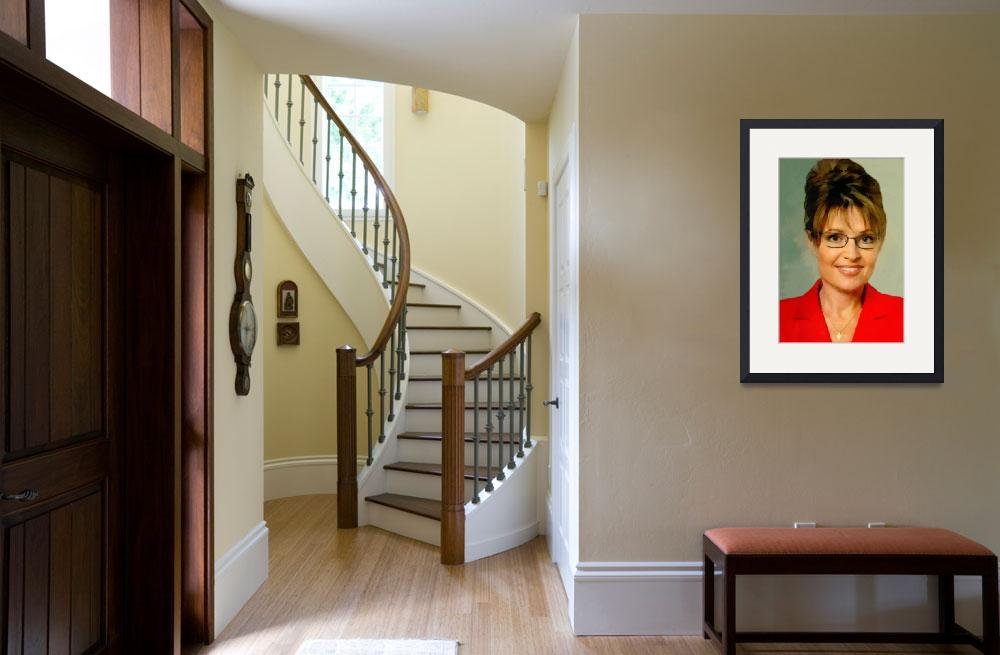 """""""Portrait of Sarah Palin by Roberto Asante&quot  by ArtLoversOnline"""