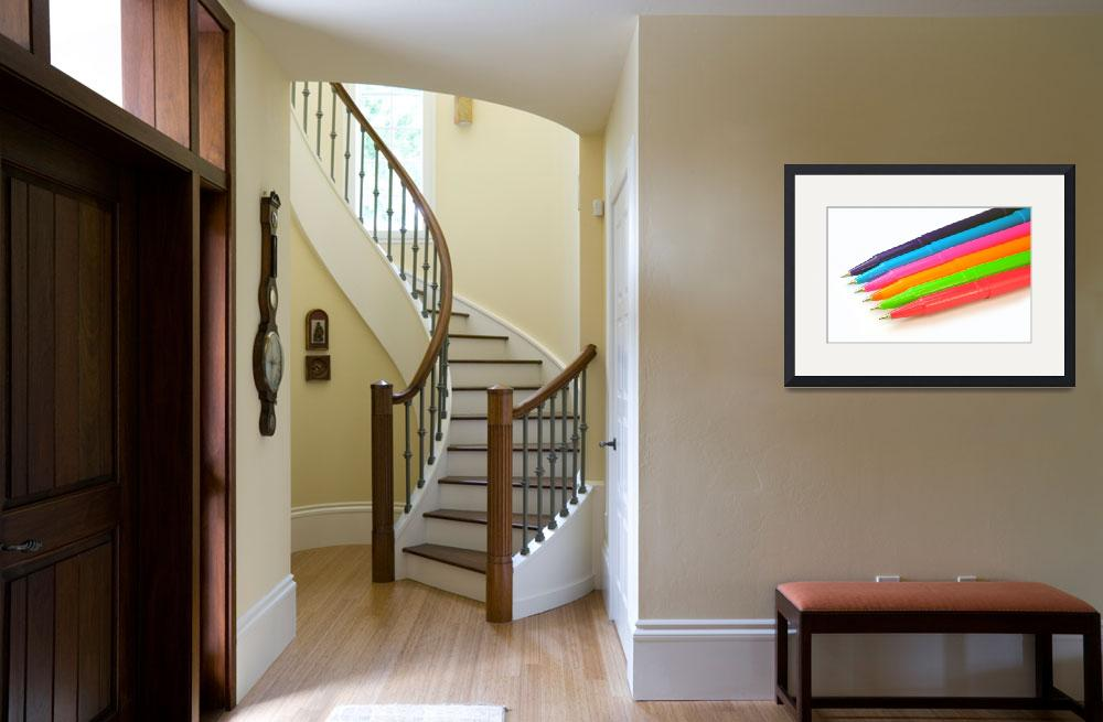 """""""Multicolor pens on white background.&quot  by FernandoBarozza"""