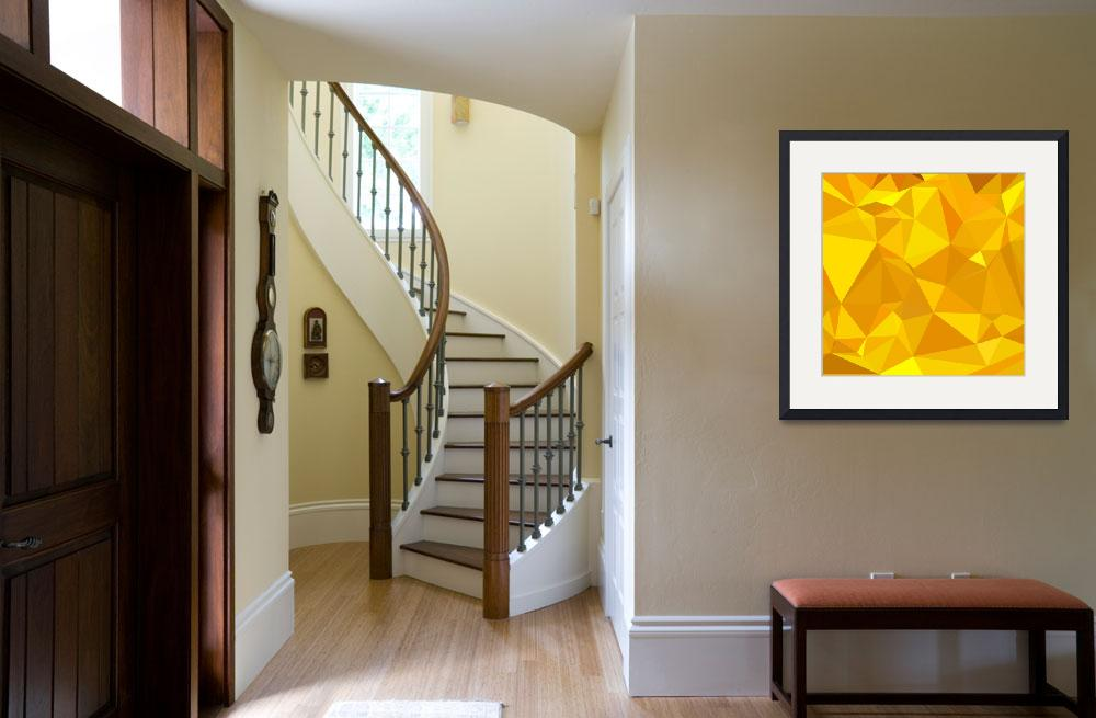 """""""Peridot Yellow Abstract Low Polygon Background&quot  (2015) by patrimonio"""
