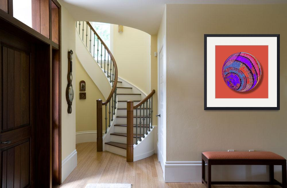 """""""Tree Ring Abstract Orb&quot  (2013) by RubinoFineArt"""