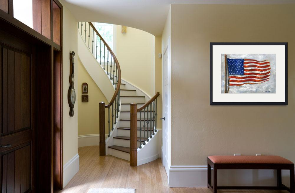 """""""USA Flag&quot  (2004) by Lenora"""