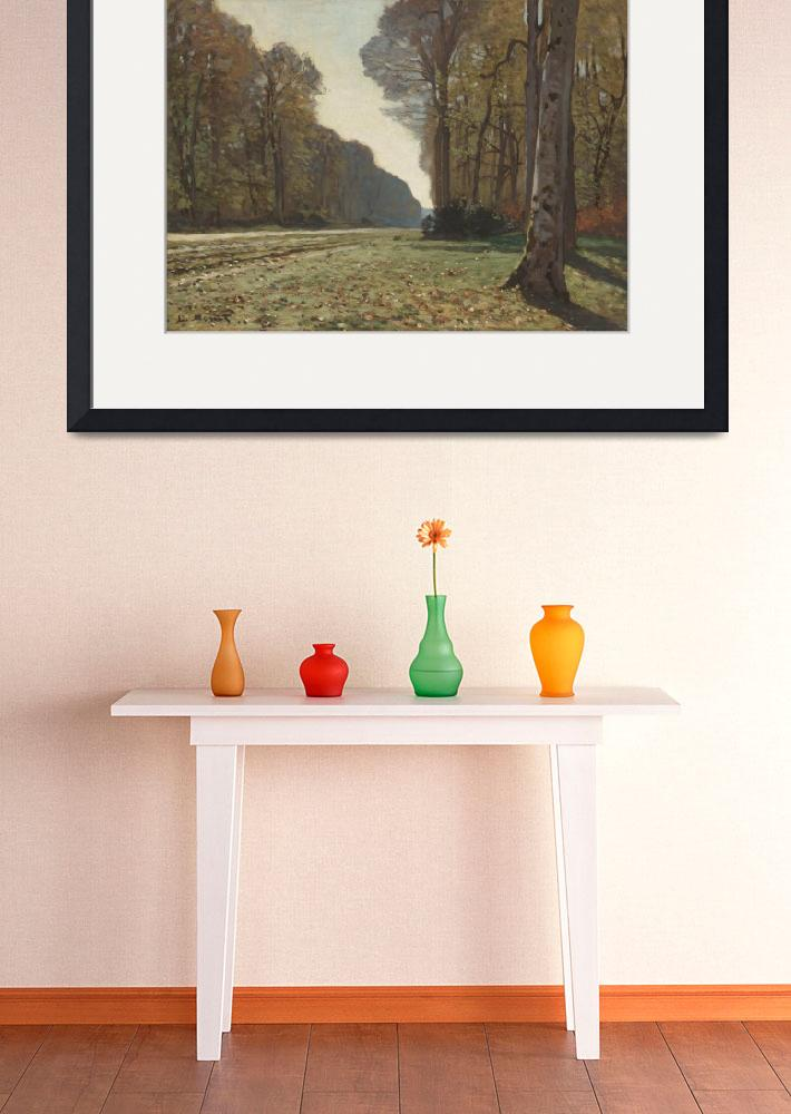 """""""Claude Monet Painting Framed Print&quot  by buddakats1"""