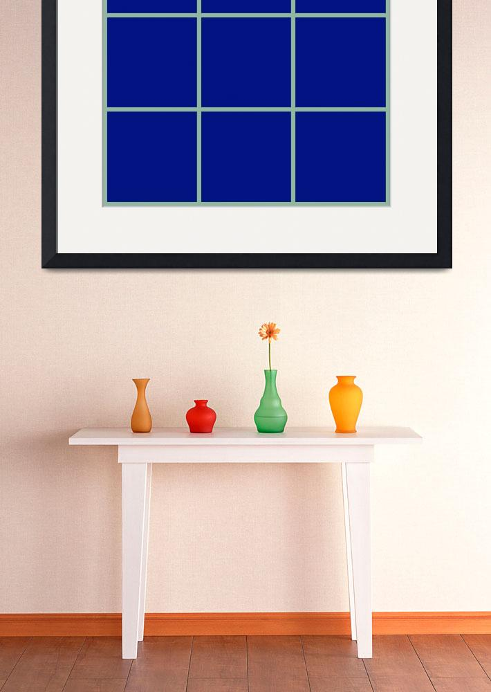 """""""Blue Window 105 Canvas Contemporary Modern&quot  (2010) by Ricardos"""