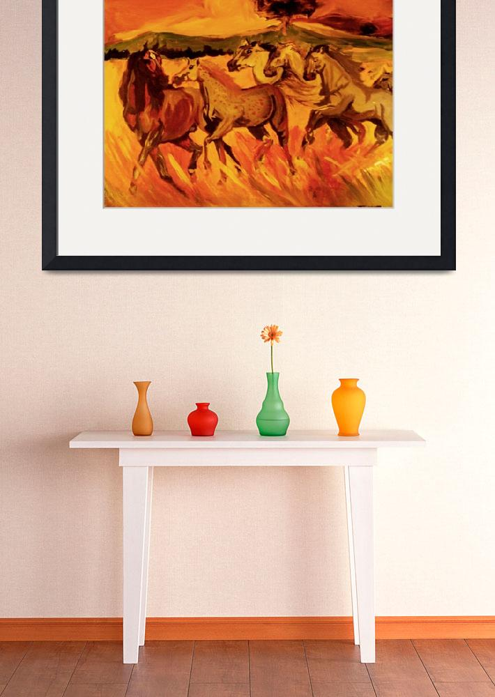 """""""Running Horses&quot  (2011) by ThexLizardxKing"""
