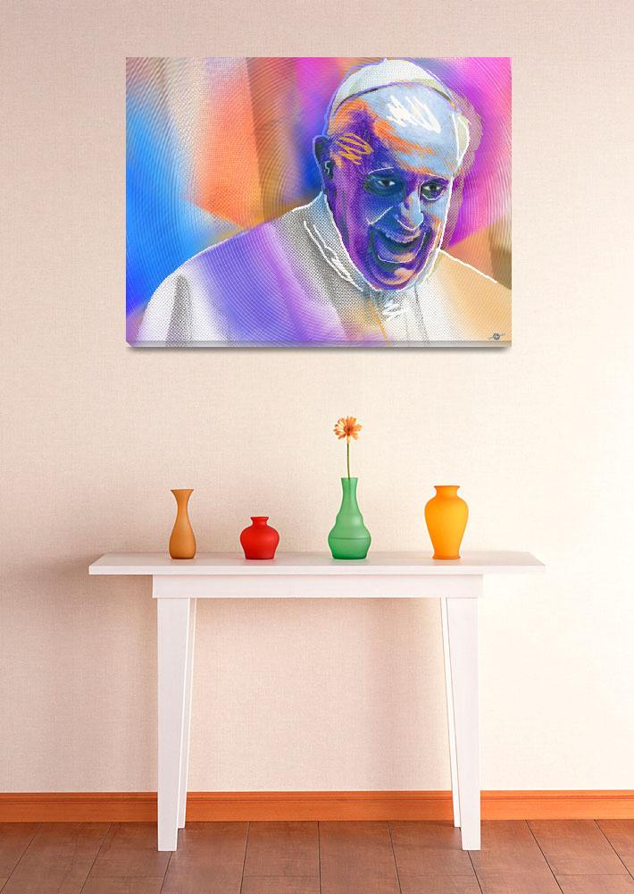 """""""Pope Pop 4&quot  (2016) by RubinoFineArt"""