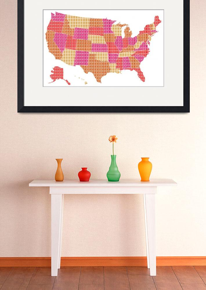 """""""United States - Red&quot  (2016) by garyhogben"""