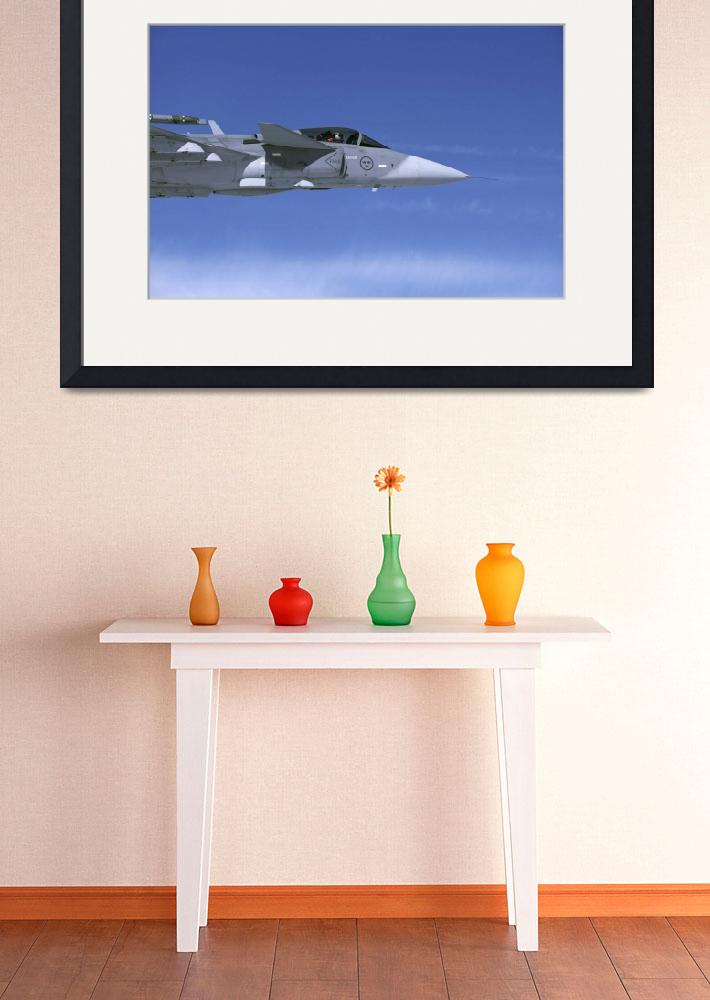 """""""Saab JAS 39 Gripen fighter of the Swedish Air Forc&quot  by stocktrekimages"""