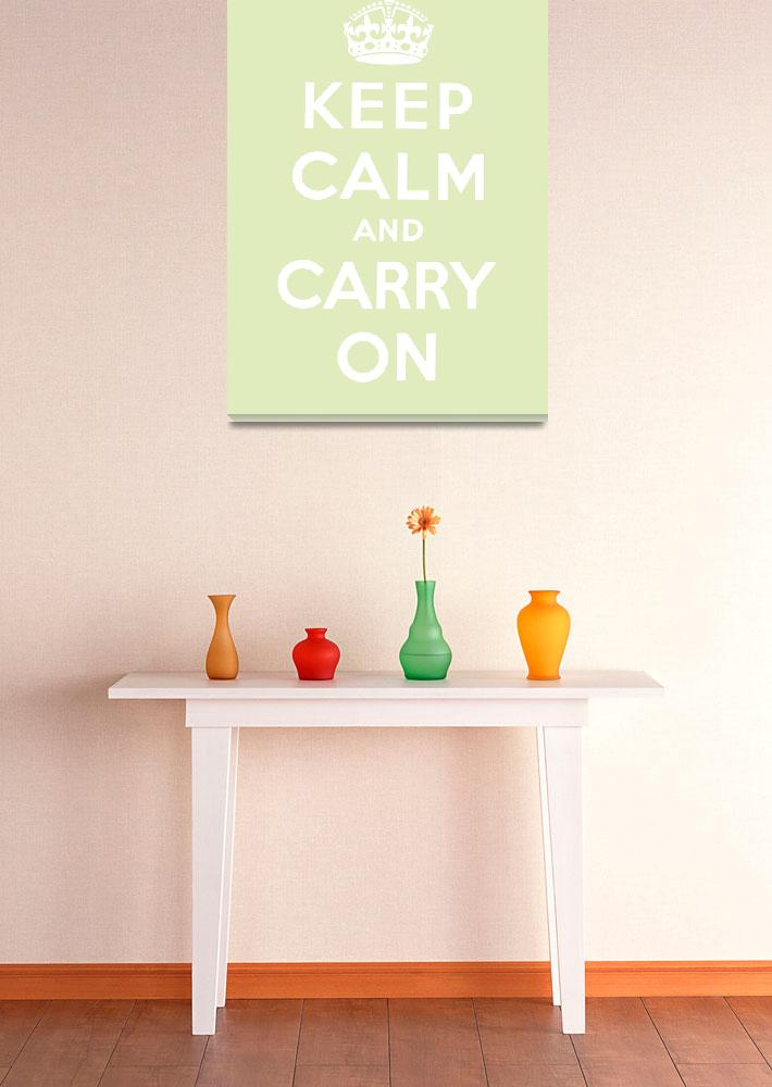 """""""Green Keep Calm And Carry On 7""""  by oldies"""