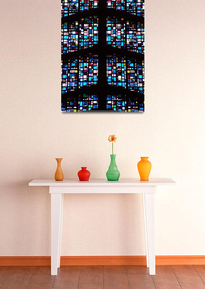 """""""Symmetry in Stained Glass&quot  (2004) by DonnaCorless"""