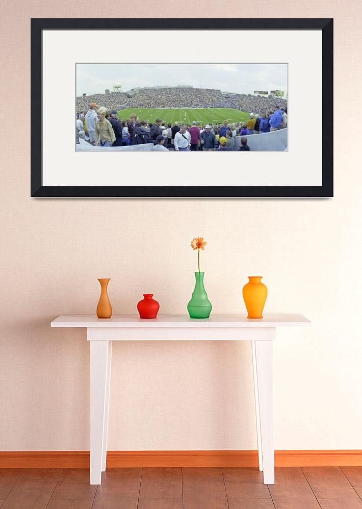 """""""High angle view of spectators in a football stadi&quot  by Panoramic_Images"""