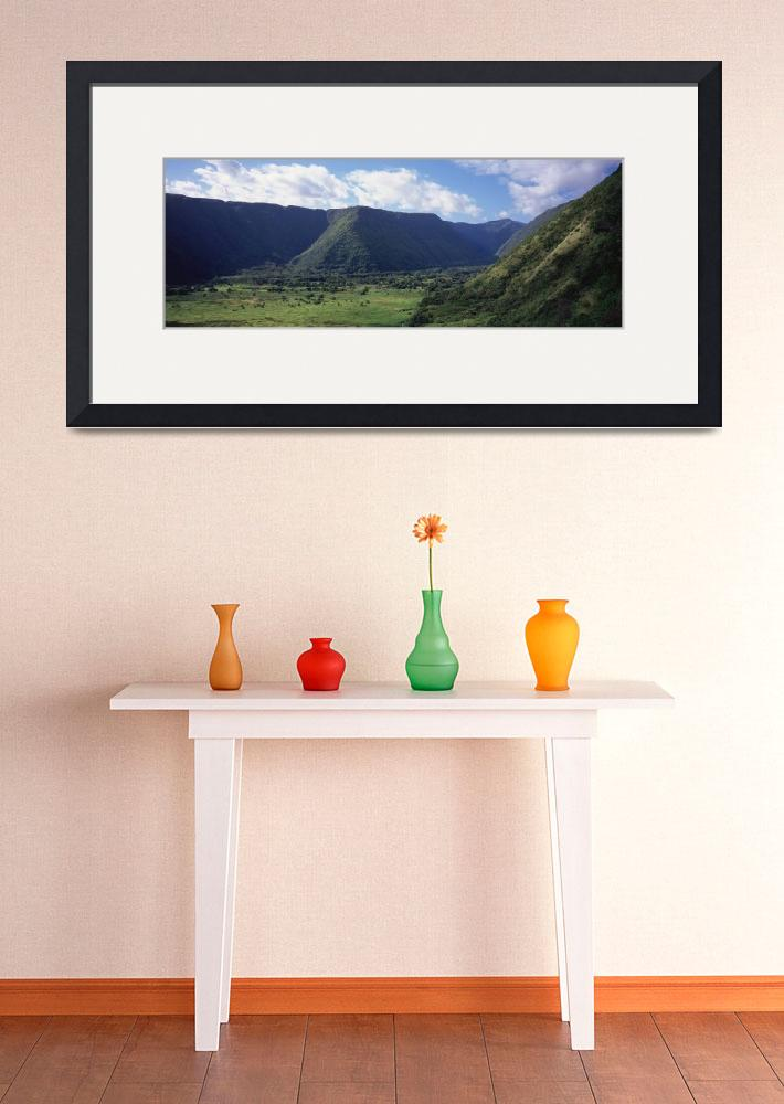 """""""""""Mountains on a landscape, Waipio Valley, Hamakua&quot  by Panoramic_Images"""