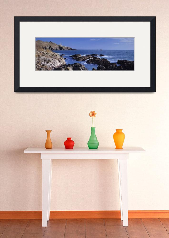 """""""Rock formations on the coast Start Point Lighthou&quot  by Panoramic_Images"""