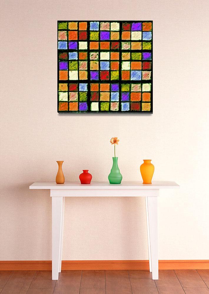"""Sudoku Abstract Orange Purple&quot  (2012) by KsWorldArt"