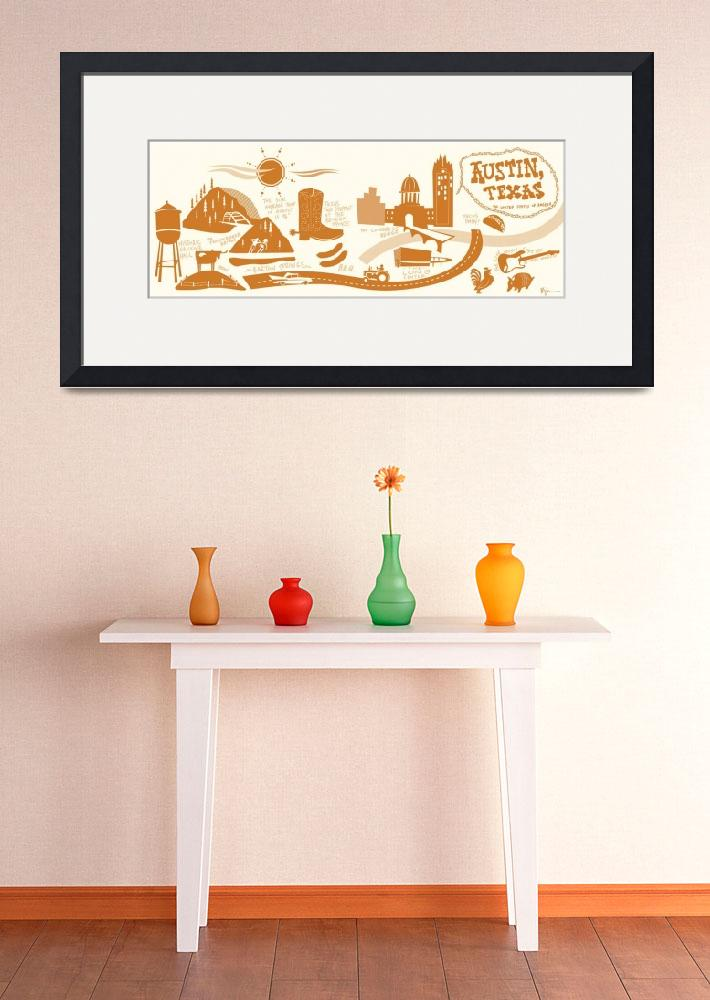 """""""Austin, Texas by Bryan Spear&quot  by TheyDrawandCook"""