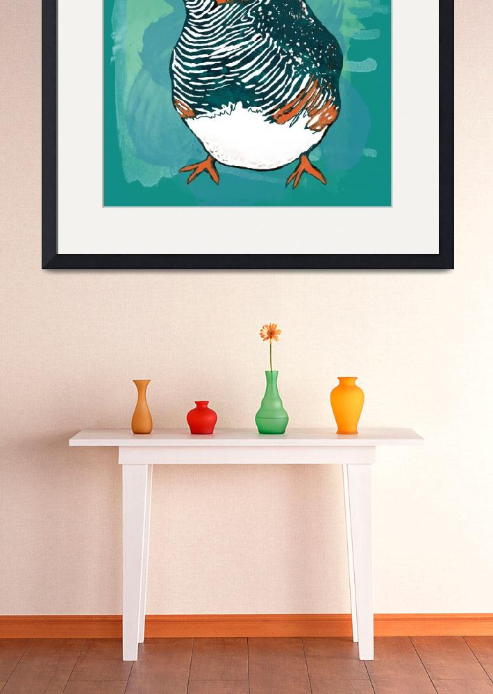 """""""Bird stylised drawing art poster&quot  (2014) by visualharbour"""