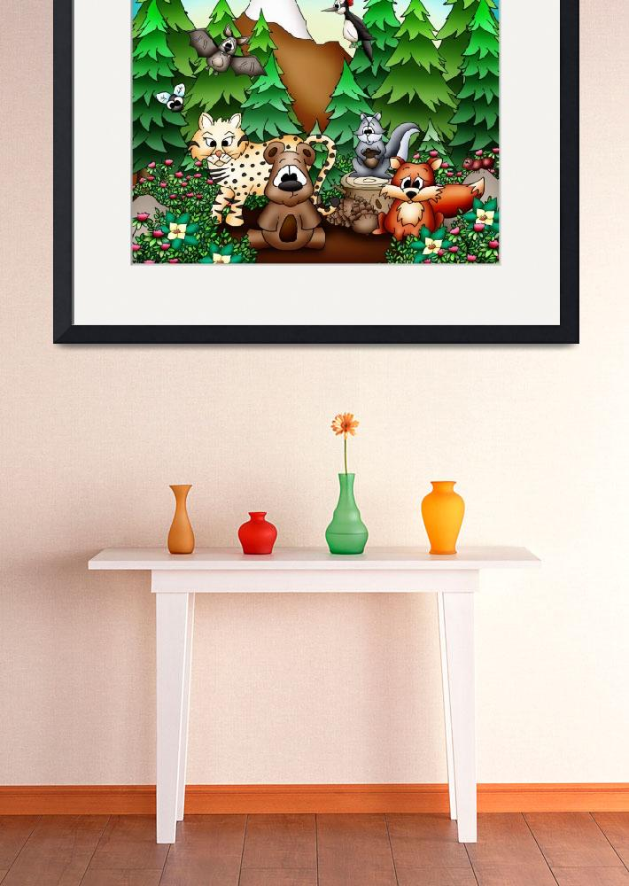 """""""Forest Animals with Bear&quot  (2010) by just4mebooks"""