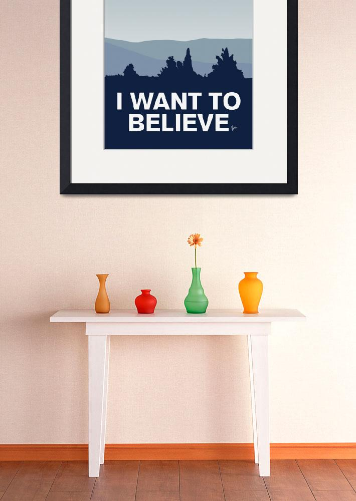 """My I want to believe minimal poster-tardis&quot  by Chungkong"