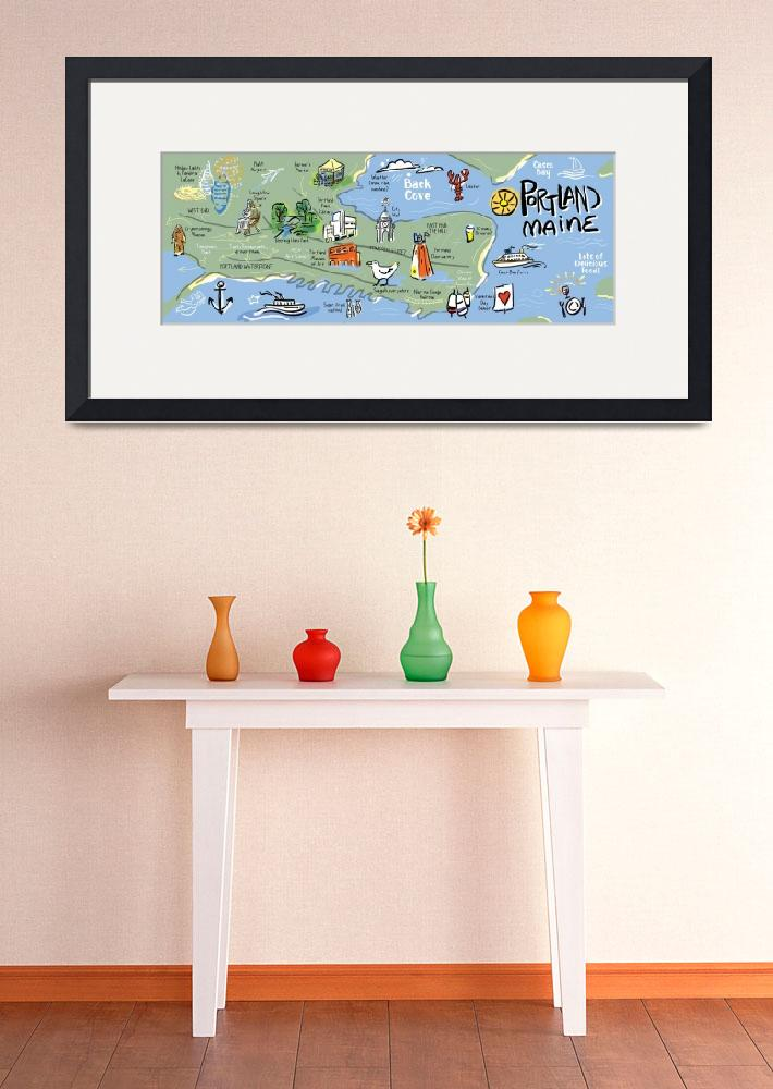 """""""Portland, Maine by Leticia Plate&quot  by TheyDrawandCook"""