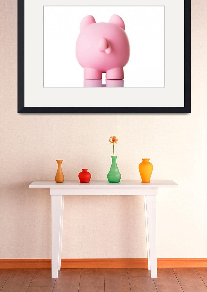 """""""Piggy bank back. Isolated on white.&quot  by Piotr_Marcinski"""