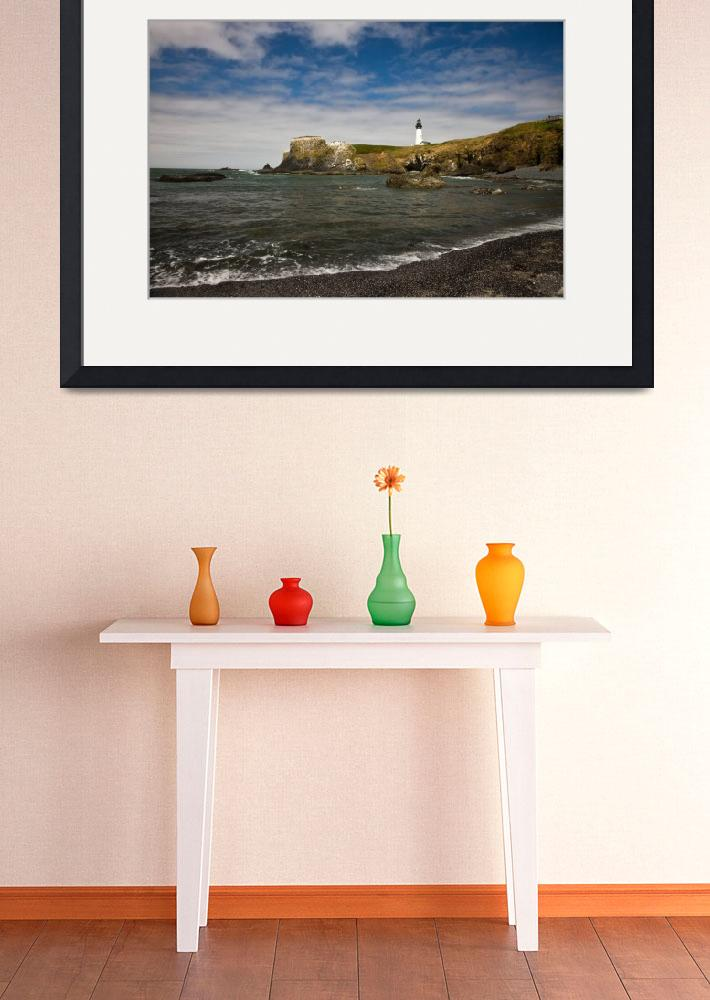 """The Heceta Head Lighthouse From The Beach&quot  by pbk"
