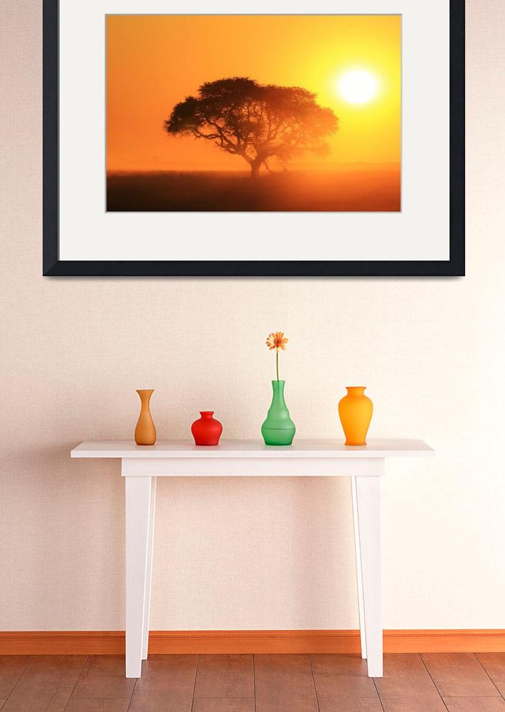 """""""Tree of Life - Golden Sunset and Nature&quot  (2014) by LivingWild"""