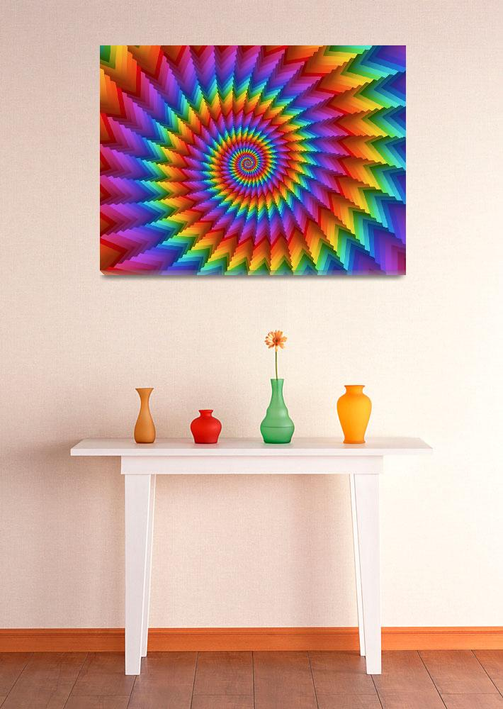 """""""Psychedelic Rainbow Spiral&quot  (2013) by kittybitty"""