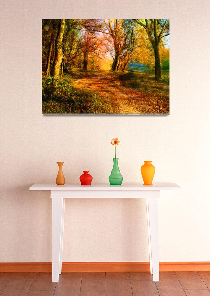 """""""Colorful autumn forest&quot  (2010) by prudkov"""