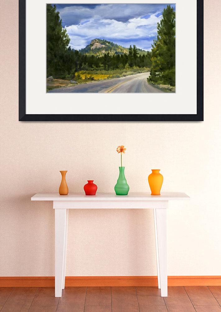 """""""Sequoia Mountain Road, California Wilderness&quot  (2007) by KeatingArt"""