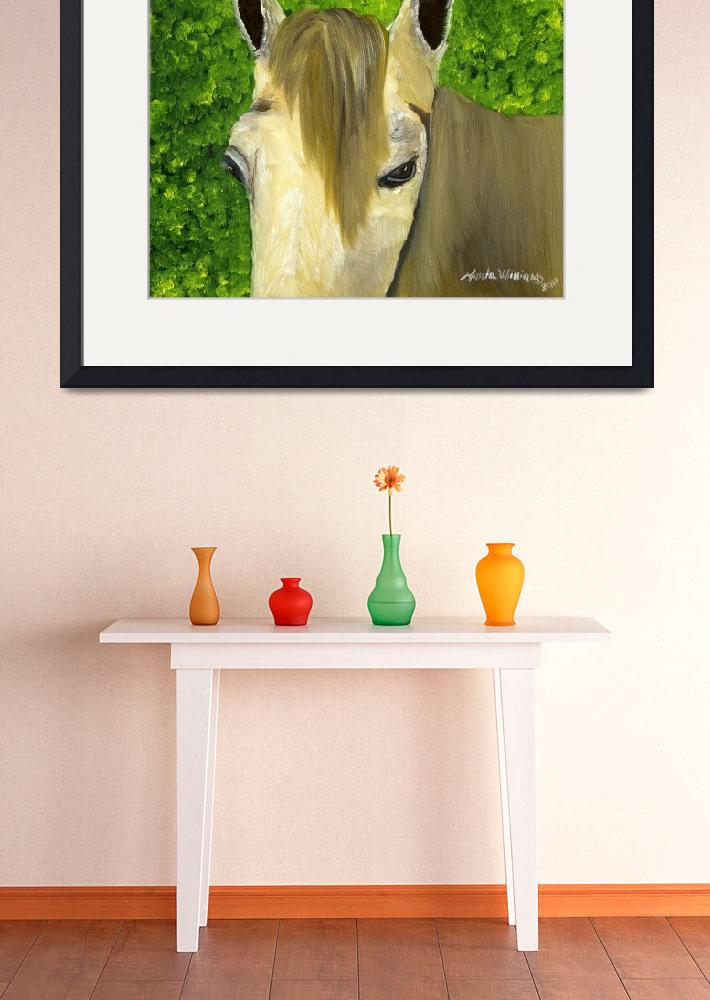 """""""Portrait of a Curious Horse""""  (2011) by mariawilliams"""