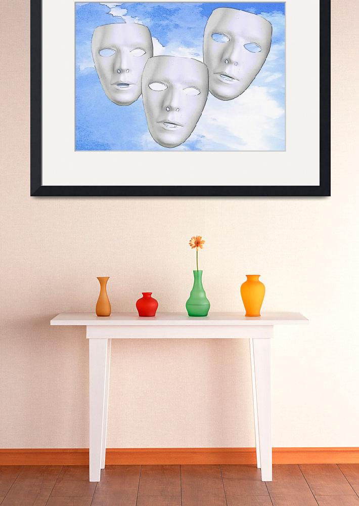 """""""Three Masks&quot  (2011) by theminionfactory"""