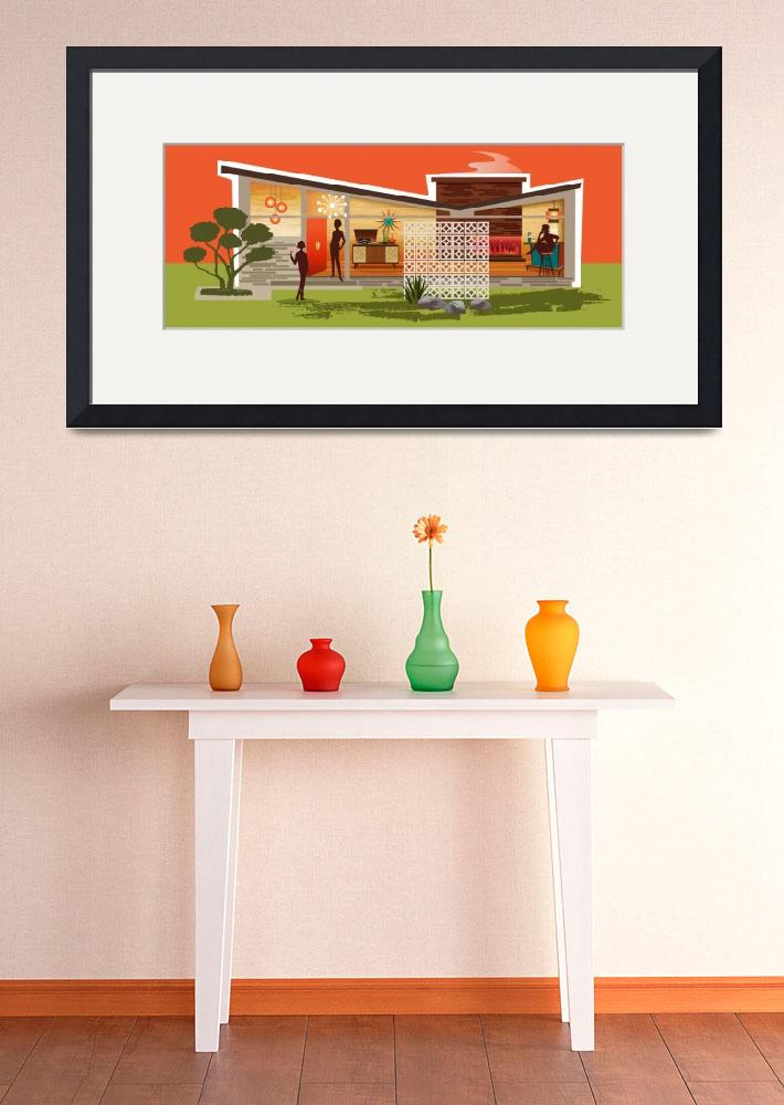 """Mid Century Modern House gay women, Butterfly Roof&quot  by DianeDempseyDesign"