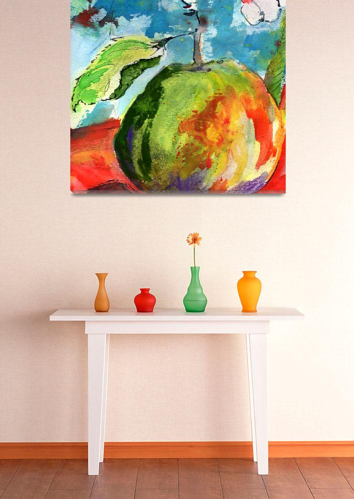 """""""Apple Watercolor by Ginette""""  (2015) by GinetteCallaway"""