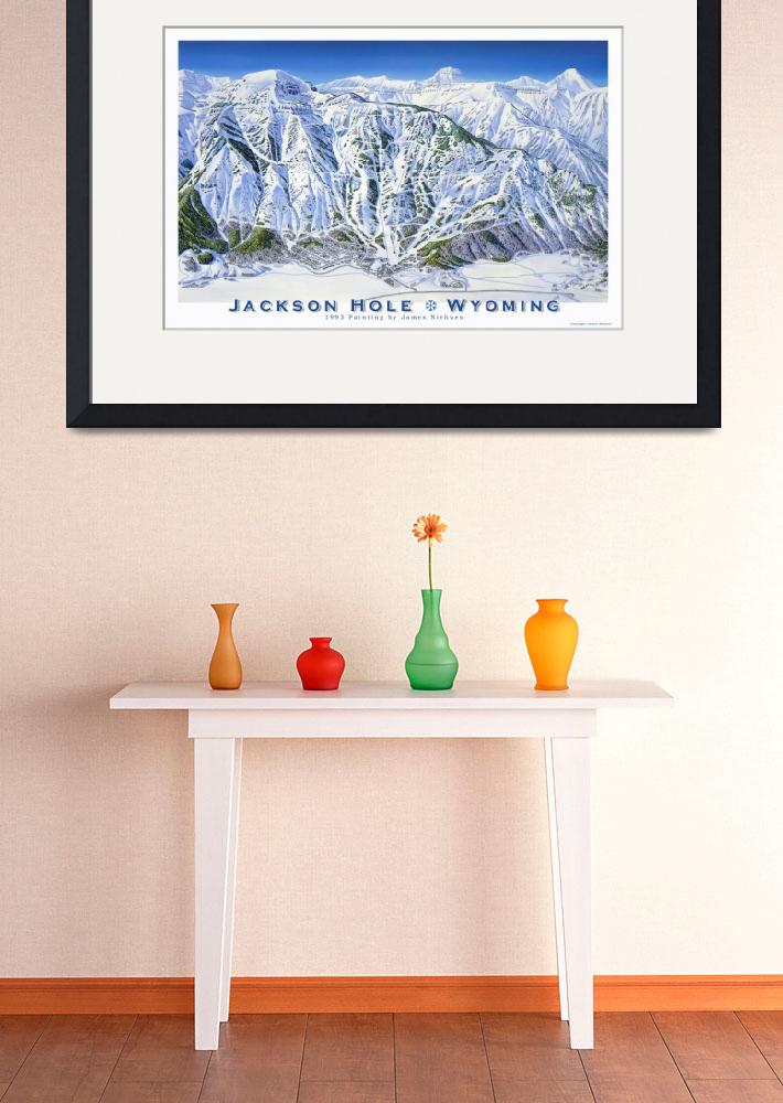 """Jackson Hole-1993&quot  (1993) by jamesniehuesmaps"