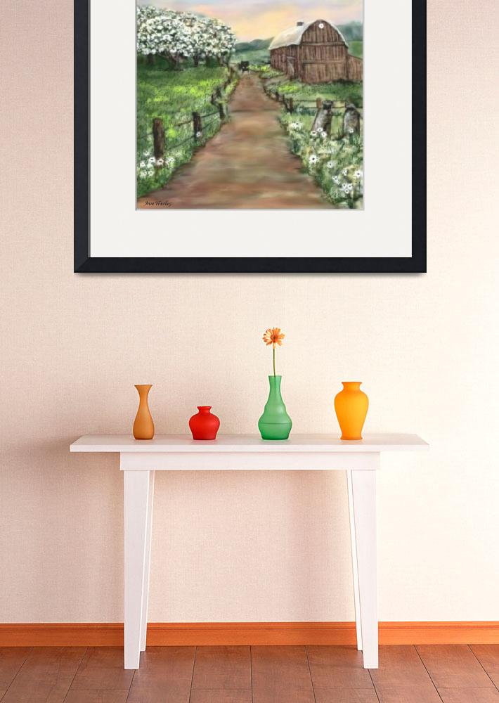 """""""Amish Apple Blossoms&quot  (2007) by AveHurley"""