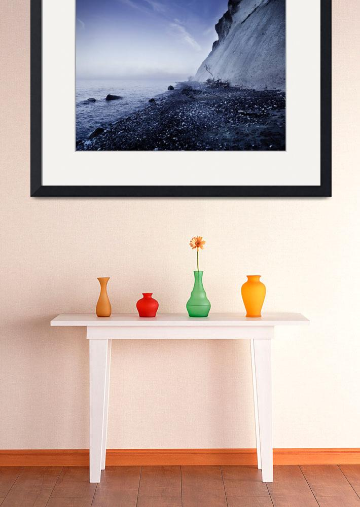 """""""Seaside and chalk mountain in the evening, Mons Kl&quot  by stocktrekimages"""