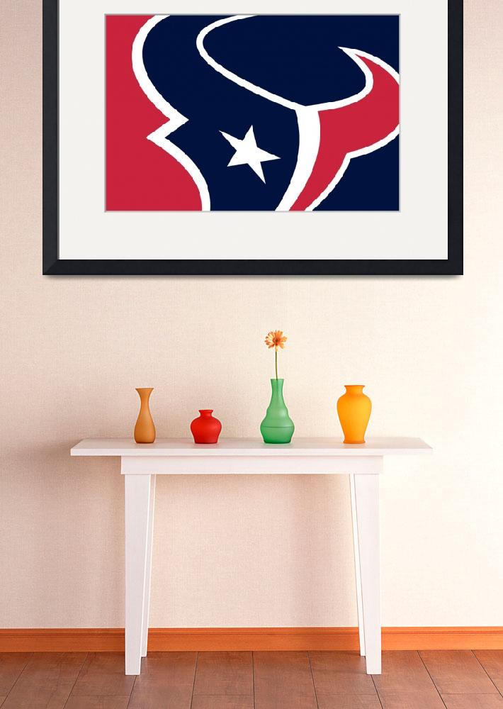 """Houston Texans&quot  (2013) by RubinoFineArt"