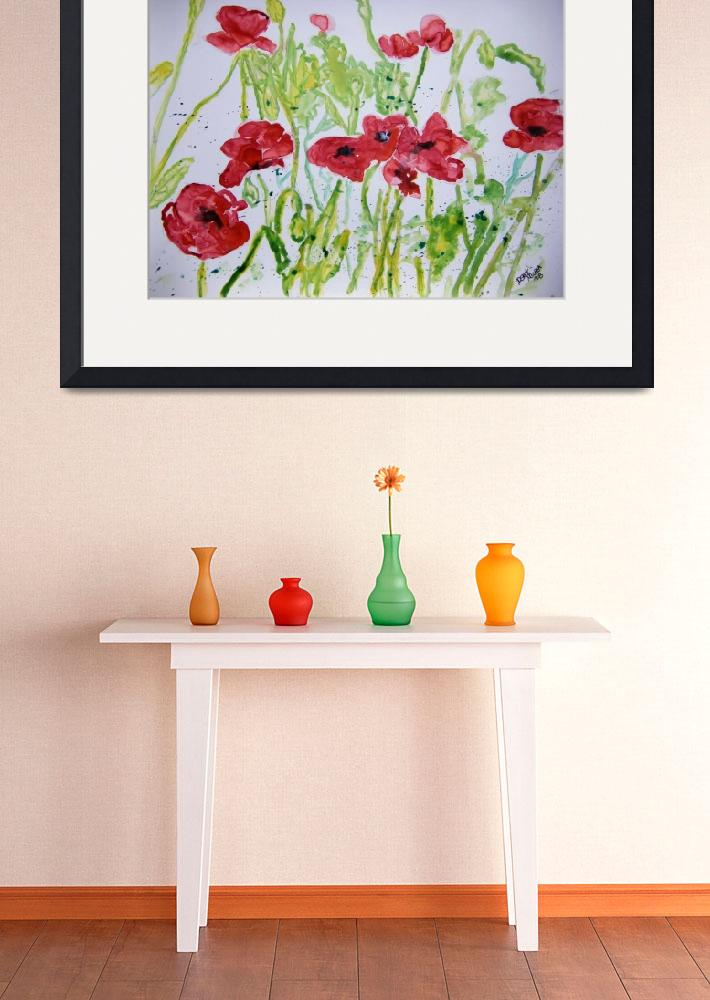 """poppy flower yupo painting&quot  (2008) by derekmccrea"