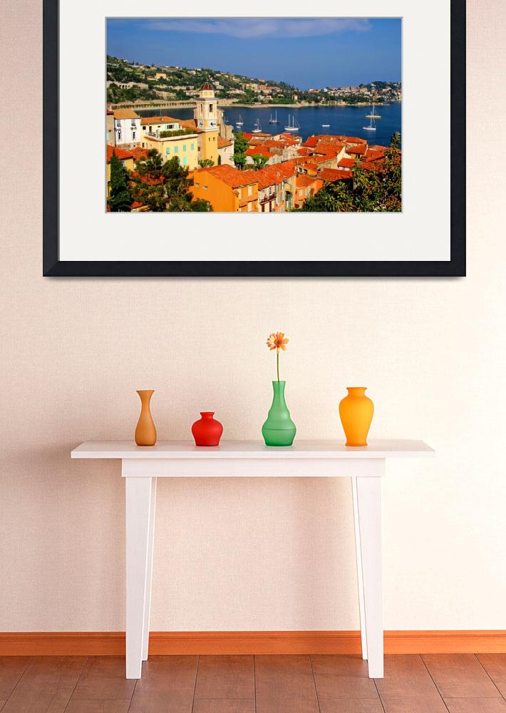 """""""Harbor scene on the French Riviera&quot  (2008) by marywhitmer"""