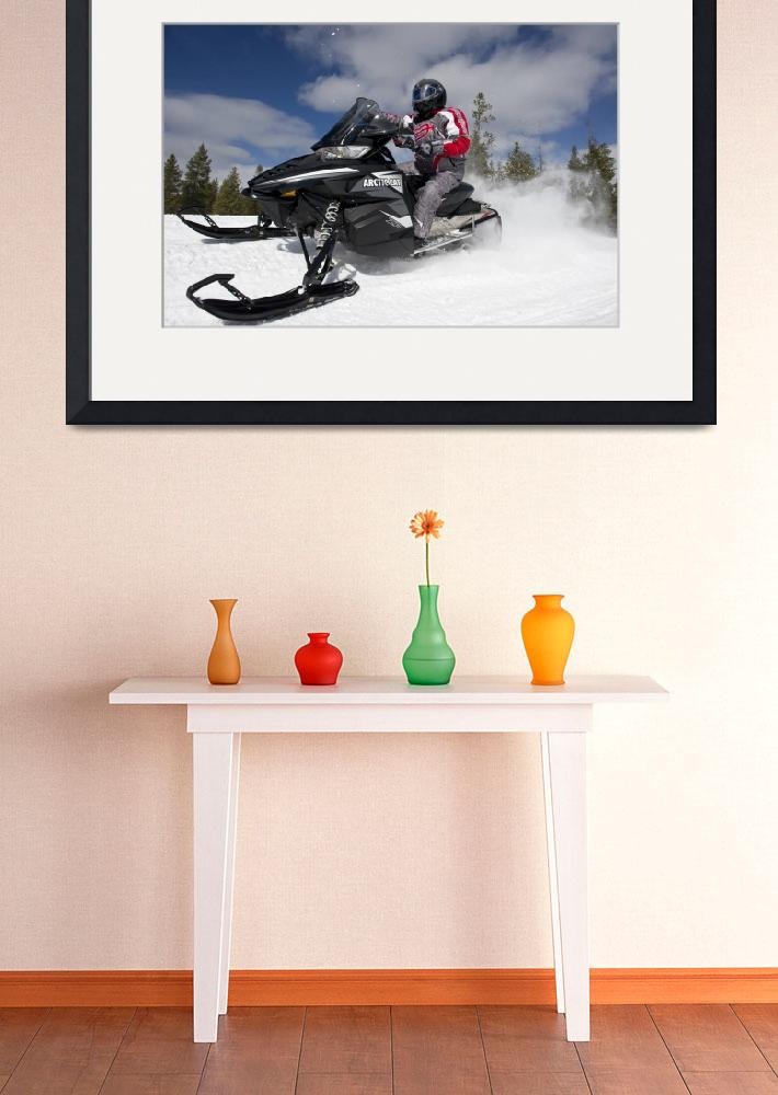 """""""Snowmobile Trail Ripping&quot  by KalmbachPublishing"""