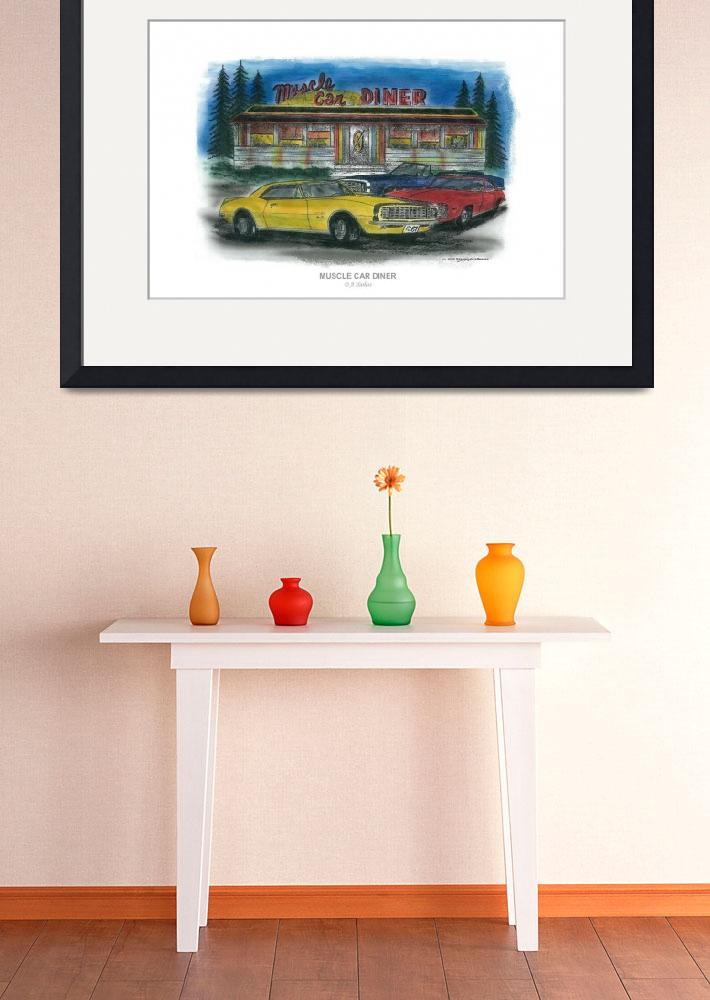 """MUSCLE CAR DINER&quot  (2006) by designsandimages"