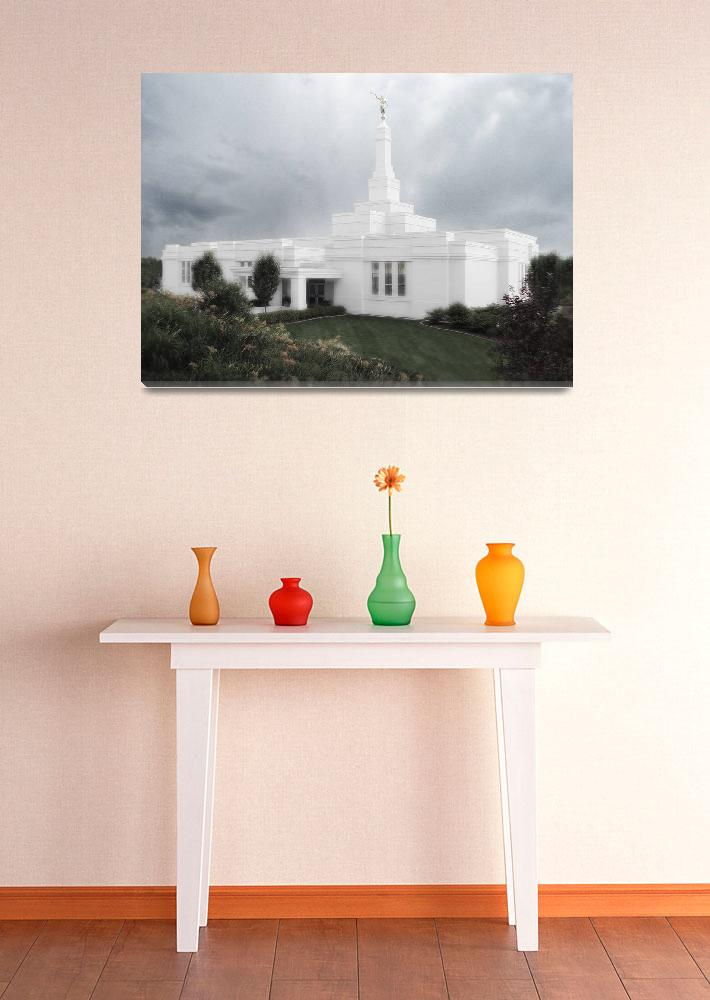 """Palmyra Temple Large-16x22-tinted&quot  by TerrySpringer"