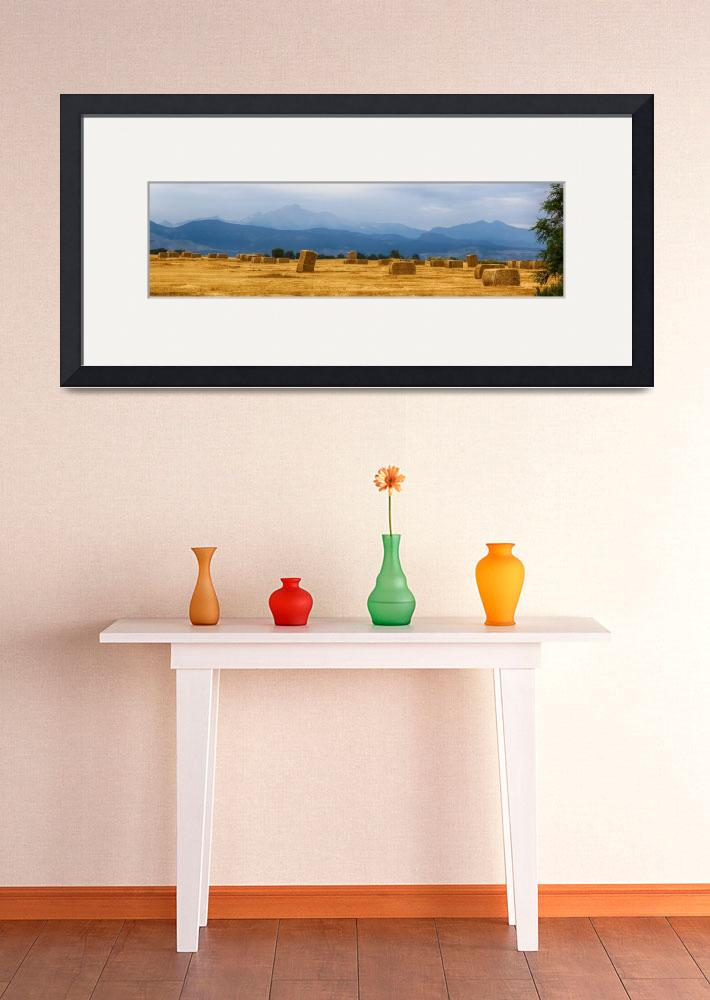 """""""Colorado Agriculture Farming Panorama View&quot  (2015) by lightningman"""
