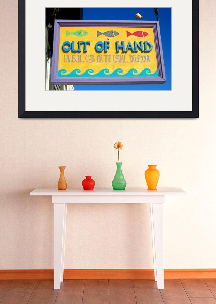 """""""Out of Hand shop sign&quot  (2010) by Markomarko"""