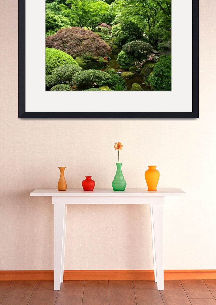"""Riot~  Japanese Garden Portland, OR&quot  (2008) by inkandbrushcreations"