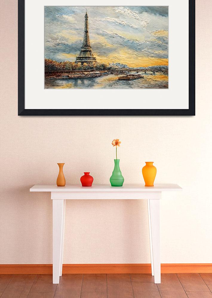 """""""The Eiffel Tower- from the River Seine&quot  (2014) by JoeyAgbayani"""